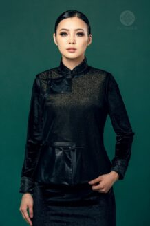 Mongolian Women's Black Suit