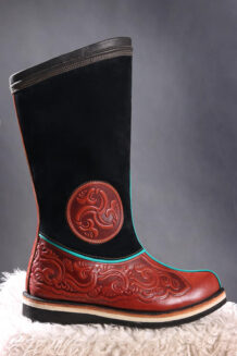 14 th Century Red and Black Boots