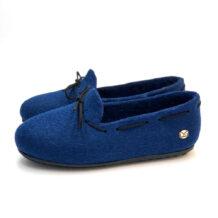 Blue Felt Shoes with Laces