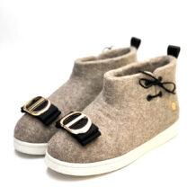 Gray Felt Shoes (Left)