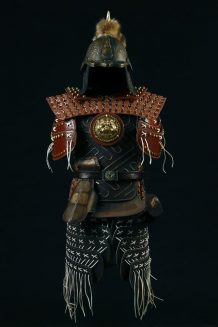 Mongolian Warrior's Armor with Sword (Front)