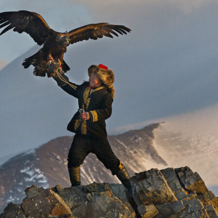 Eagle hunting in Mongolia