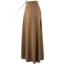 Long brown yak wool skirt
