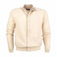Men's beige cashmere cardigan