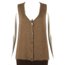 Women brown yak wool vest