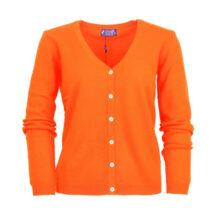 Women orange cashmere cardigan