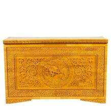 Yellow wooden chest