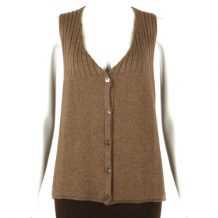 Women brown yak wool vest