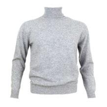 Men gray cashmere sweater