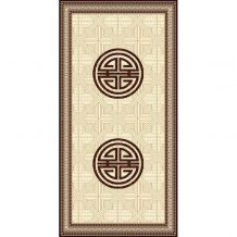 Traditional Pattern Wool Carpet (100×200 cm)