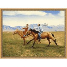 Souvenir Wool Carpet with Horse Rider (150×200 cm)