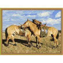 Souvenir Wool Carpet with Horse (150×200 cm)