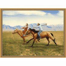 Souvenir Wool Carpet with Horse Rider (150×200 cm)