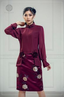 Maroon Suit For Women