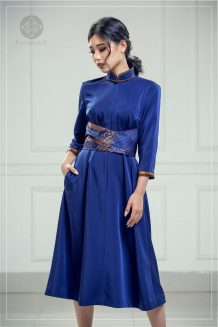 Women's Blue Modern Deel