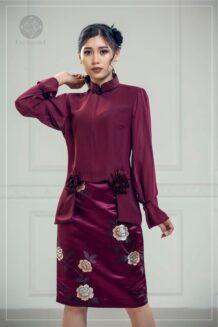Maroon Suit For Women