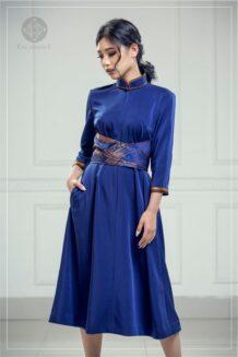 Women's Blue Modern Deel