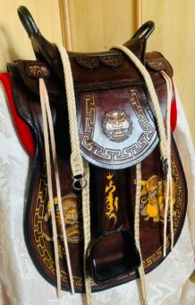 Dark Brown Cowhide Horse Saddle