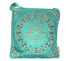 Green Kazakh Embroided Crossbody Bag