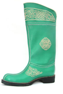 Green Leather Boots (left)