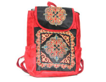 Red Kazakh Embroided Backpack 2