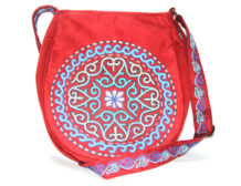 Red Kazakh Embroided Bag