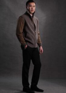 Men's Brown Merino Wool Cardigan