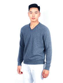 Men's Gray Cashmere Shirt