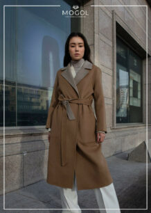 Women's Brown Sheep Wool Coat