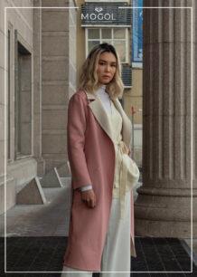 Women's Pink Sheep Wool Coat