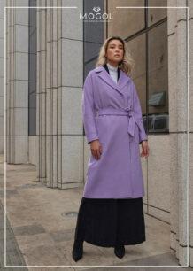 Women's Sheep Wool Purple Coat (front)