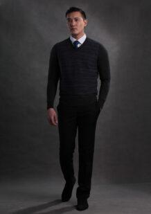Dark Merino Wool Men's Shirt
