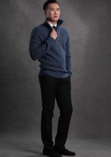 Men's Merino Wool Blue Shirt