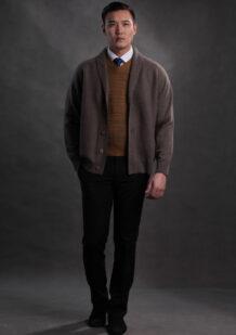 Men's Merino Wool Brown Shirt