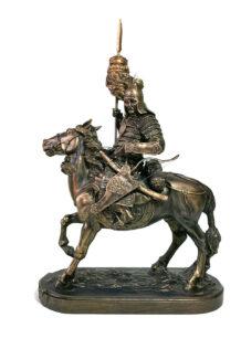Mongolian Warrior Sculpture