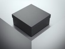 Black luxuray box. 3d rendering