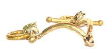 Gold Brass Horse Snaffle Bit
