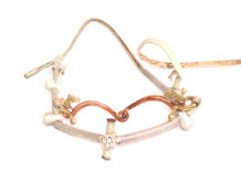 Steel Horse Bridle with Gold Brass Snaffle Bit